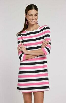 Tyler Boe 73208P Alexa 3/4 Slv Stripe Dress