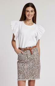 Tyler Boe 50100P Twill Frayed Skirt