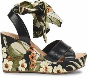 Born Salton Fabric Combo Sandal Wedge