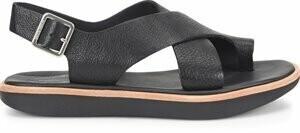 Kork Ease K67103 Black Fig Sandal Flat