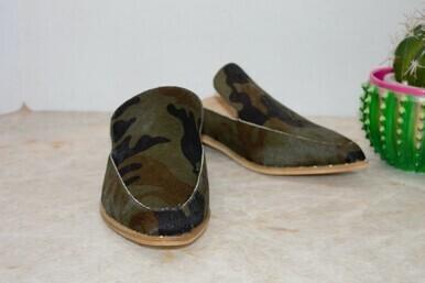 Very Volatile Atwood Camo Calf Hair Slip On Shoe