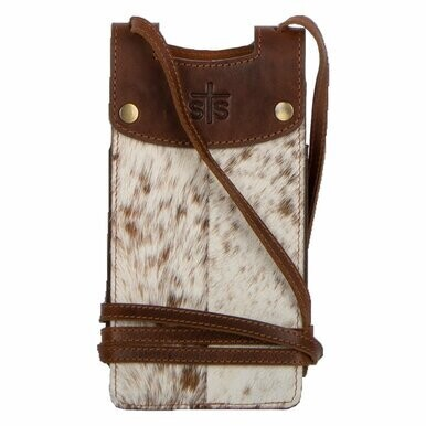 STS 33854 Cowhide Cell Phone Crossbody