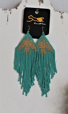 Kurtmen Beaded Thunderbird Earrings