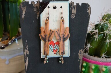 XOXO 2-44 Saquaro Cactus Earring