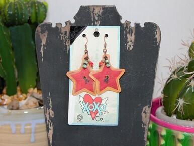 XOXO 2-65 Brand Star Earring