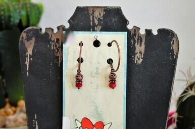 XOXO 2-39 NFR Backnumber Hoops - Red Earrings
