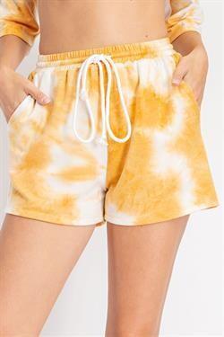 Glam GP2328 Tie Dye Shorts Drawstring Waist