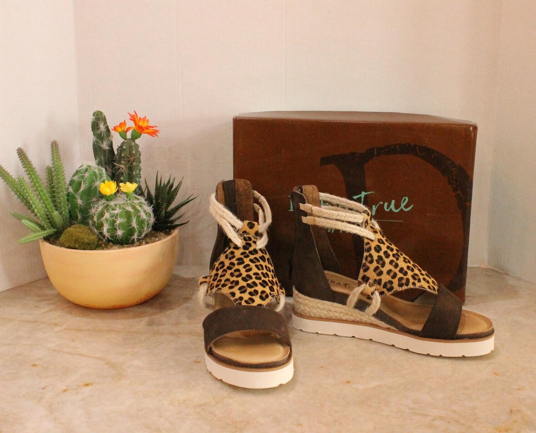 Diba True Brown Leopard Sandals