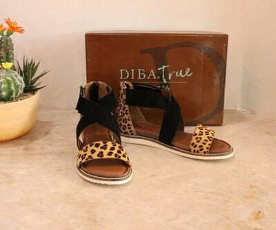Diba True Flip Toes Sandals Leopard