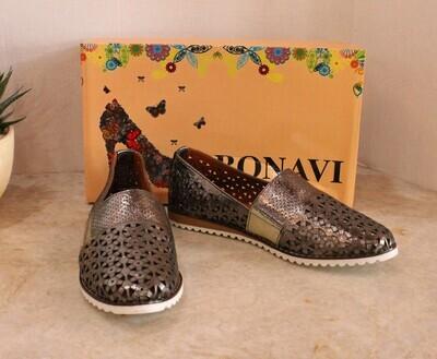 Bonavi Slip On Mesh Shoe 144-409 - Pewter