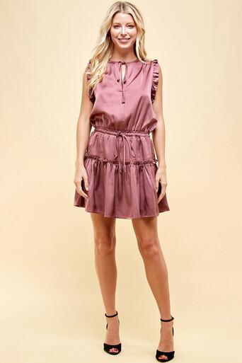 Pinch 2683DE Sheer Tiered Mini Dress