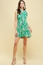 Pinch 2683DD Sleeveless Ruffle Tie Waist Dress