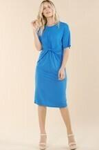 Pinch D2564 Front Cinch Knit Dress