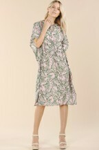 Pinch D2542 Tropical Print Cover Up Dress