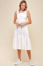 Pinch 3104D Tiered Midi Dress Dbl Shoulder Strap