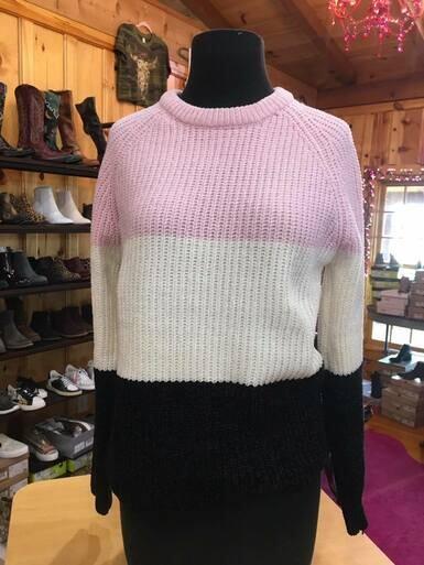 Salty ALVO812026 Colorblock Sweater
