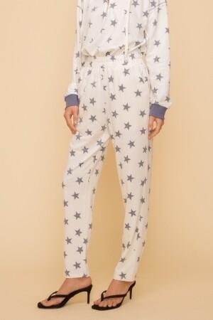 Hem & Thread 30772F Star Print French Terry Pants