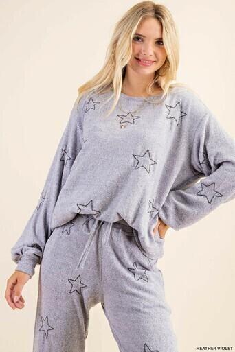 Kori B5254 Soft Brushed Sweatshirt W/Star Emb