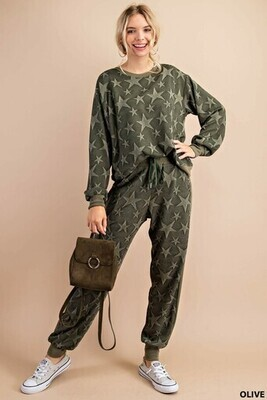 Kori B5259 Sweatshirt Star Jacquard Print