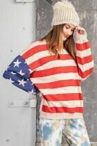 Easel ET11236 LS USA Flag Print Sweatshirt