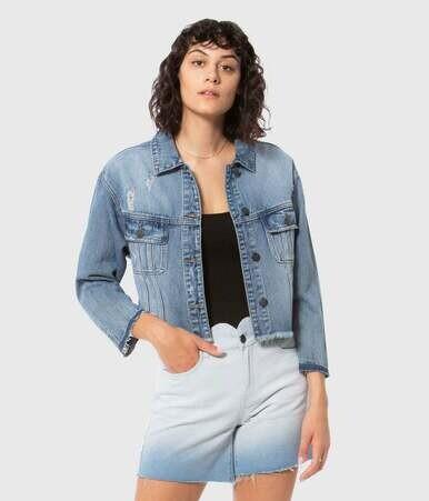 Lola Crop Denim Jacket
