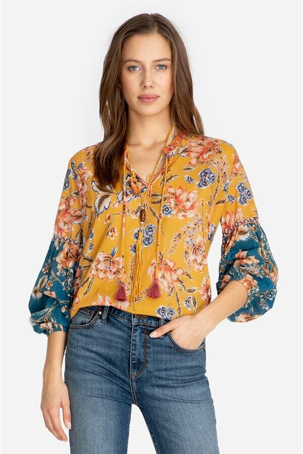Johnny Was W16919B-D Multi Peasant Blouse