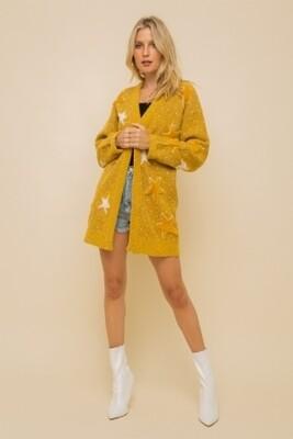 Hem & Thread 8282J Star Jacquard Sweater