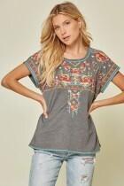 Savannah Jane 19082 Embroidered Tee Shirt