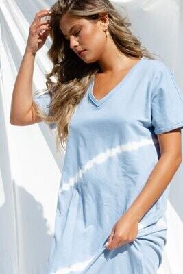 Peach Love KD83711-01 V Neck Die Dress