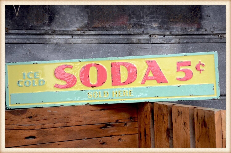 Peacock Park 19BOWL214 Pastel Soda Sign