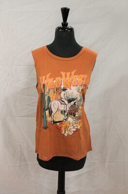 Refined Canvas F843-8021 Wild West Tank Top
