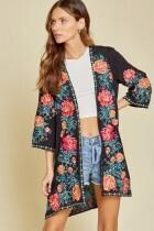 Savanna Jane 19153 Kimono W/Embroidery