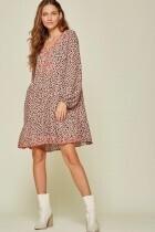 Savanna Jane #94323 V Neck Empire Dress W/Embroid.