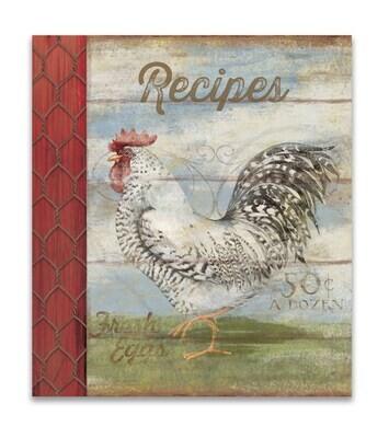 Brownlow 53725 Barnyard Rooster Recipe Binder