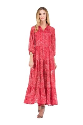 Joy Joy 55J4731-8 Flare Tiered Maxi Dress