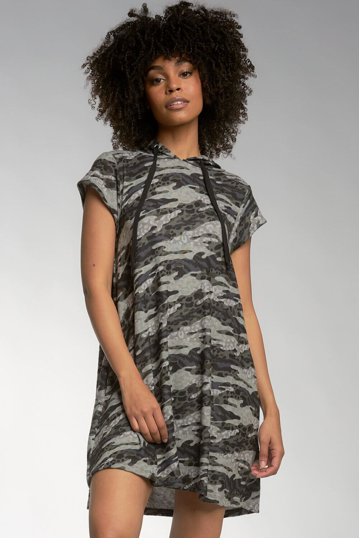Elan BKP5676 Dress W/Cap Sleeve Animal Prt