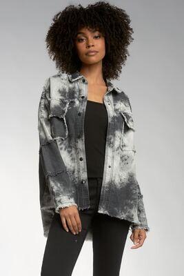 Elan  DET8121 Jacket Button Up Distressed