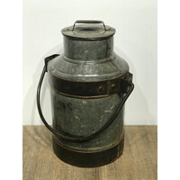 Wilco Home 78009 Vintage Lg Milk Can W/Lid