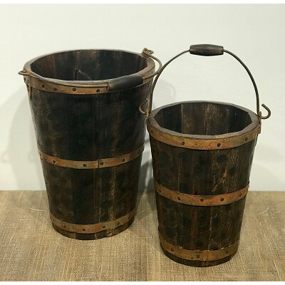 Wilco Home 74026 Set/2 Firehouse Buckets