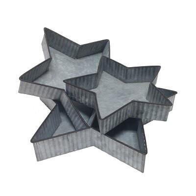 Wilco 30015 S/3 Rippled Tin Star Tray