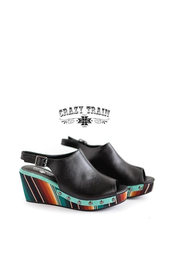 Crazy Train Bonnie Wedge Sandal
