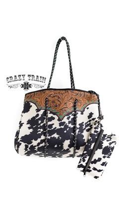 Crazy Train Al Dream Tote Bag Cowhide/Leather