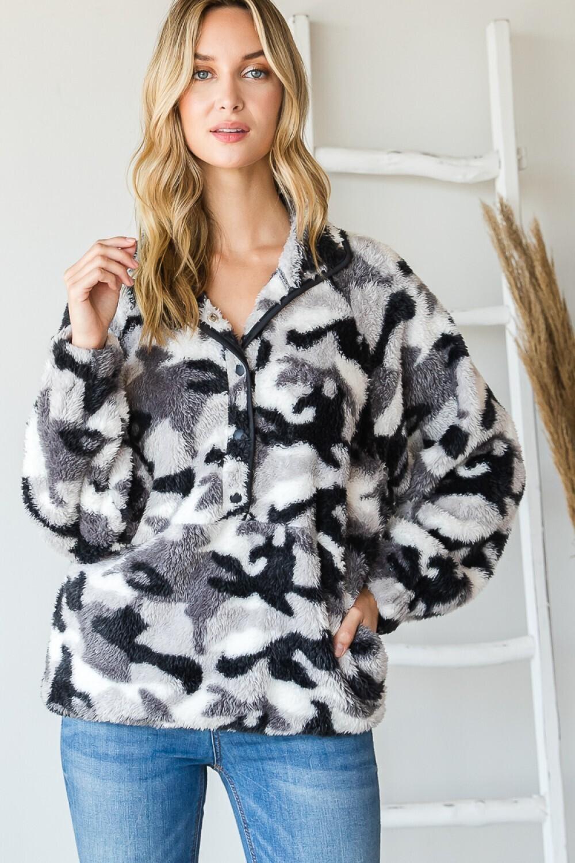 Heyson ET1070 Faux Fur Pullover Camoflauge LS
