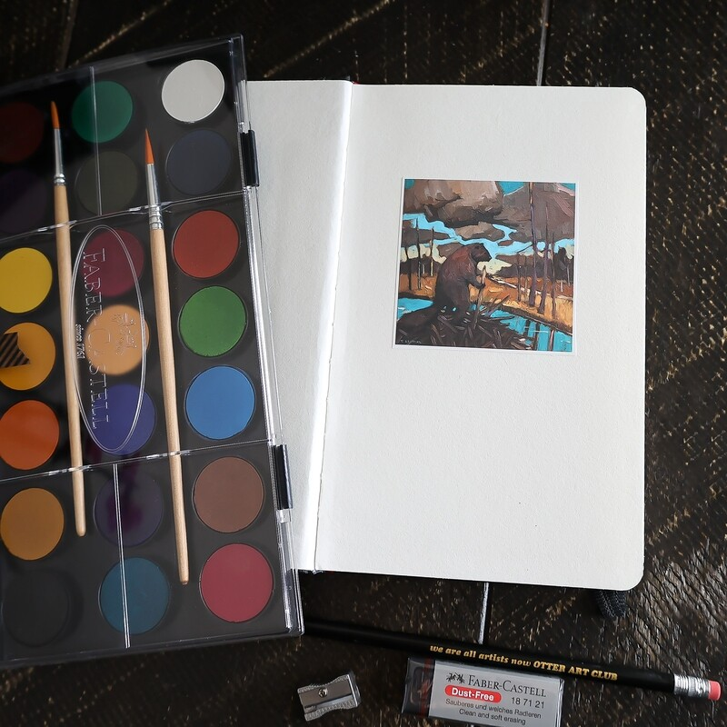 Watercolour Set with Hardcover Journal