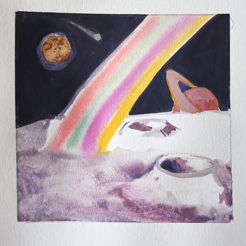 Travis Shilling Watercolour, Space Rainbow
