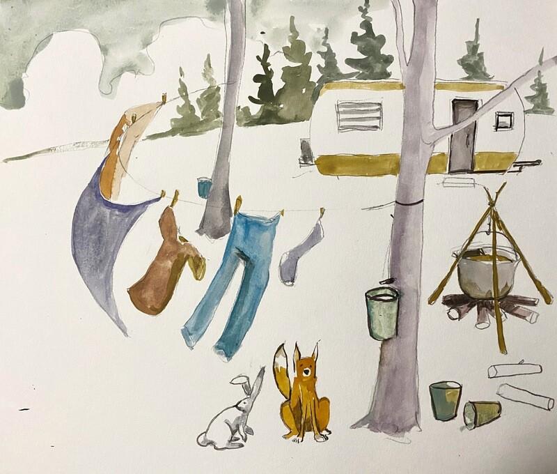 Travis Shilling Watercolour, Maple Camp