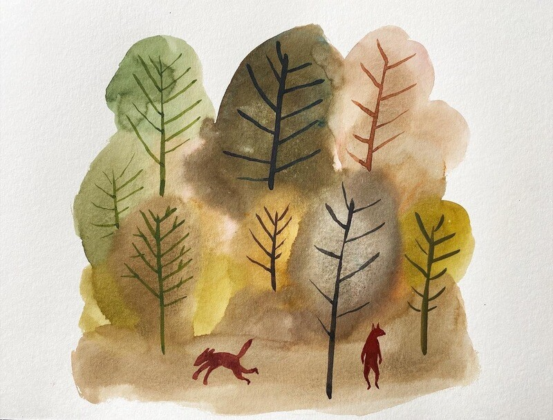 Travis Shilling Watercolour, The Forest