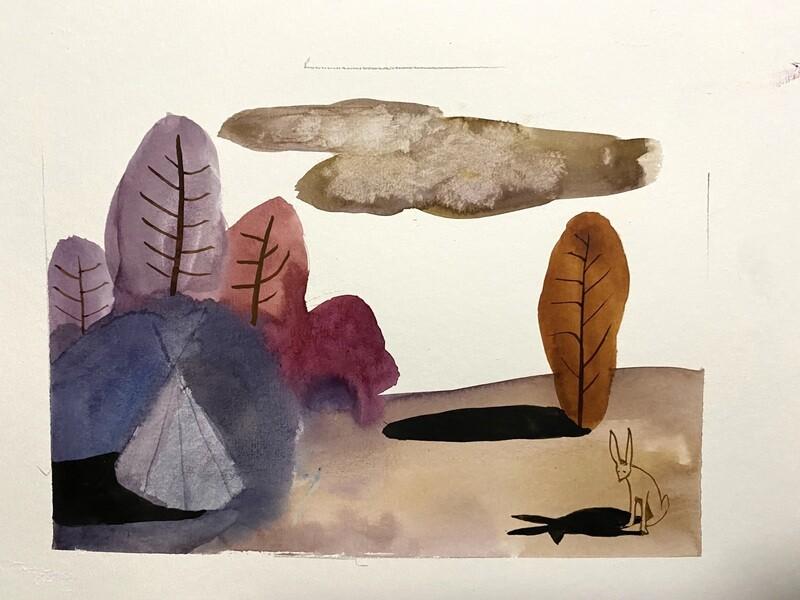 Travis Shilling Watercolour, Shadows