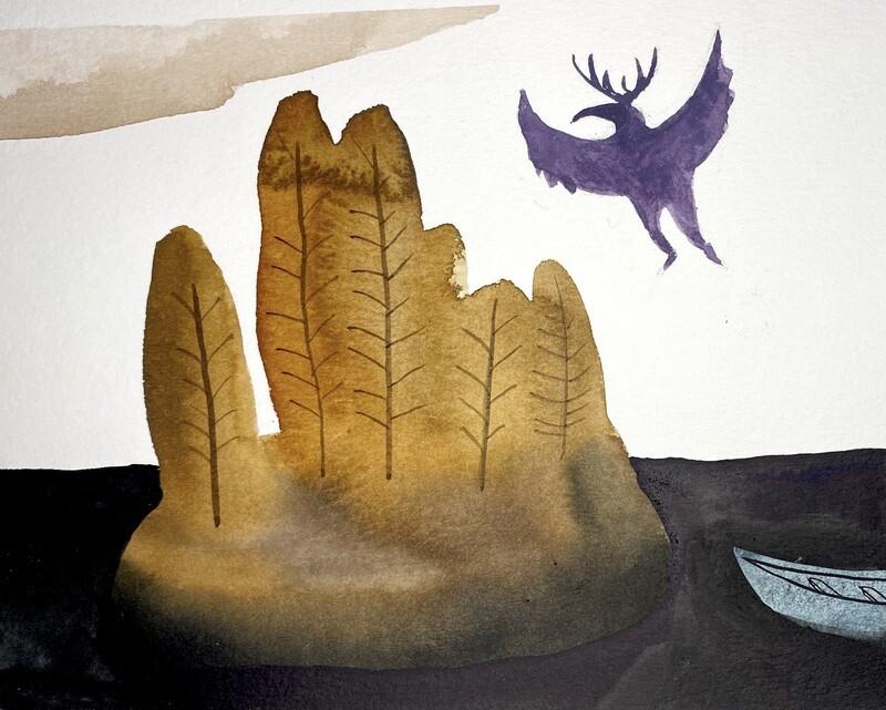 Travis Shilling Watercolour, Thunderbird