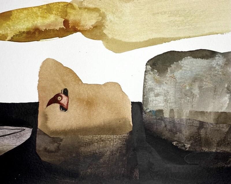 Travis Shilling Watercolour, Hiding Place